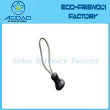 Customized black elastic strong rubber zip puller