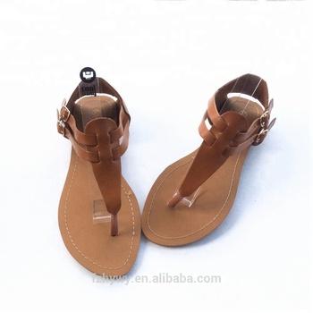 eb35265acfdac0 Wholesale ladies flat fancy slide sandals cheap summer women ankle straps  sandal 2018