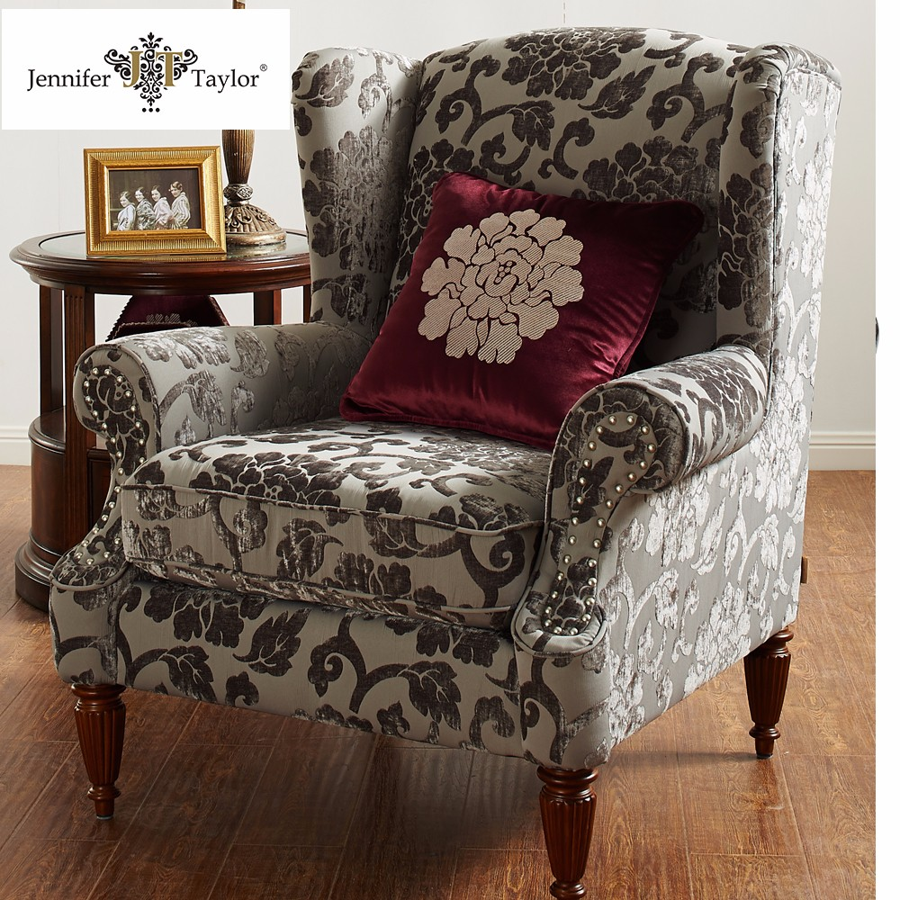 Contemporary Living Room Chair /fabric Upholstered Salon ...