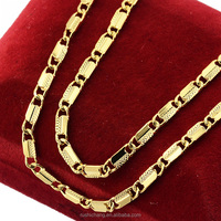Cheap 3mm Man Womens Engraving Flakes Yellow Gold Plated Filled Necklace Bulk Sale Jewelry 46cm 60cm