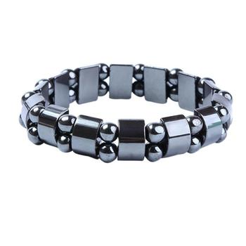 New Fashion Charm Black Magnetic Hematite Bead Bracelet for Men Women Healthy Bracelets Natural Stone Bracelet Jewelry Gift