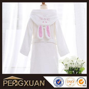 5182fda205 100% Cotton Baby bath towel robe  kids hooded cotton bathrobe PX-BBBT1