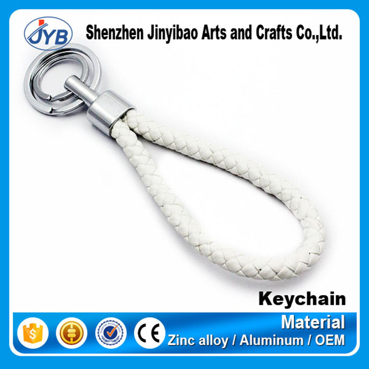 Cheap pen keychain gift sets custom plastic rope keyring spring coil key chain elastic ring keychain
