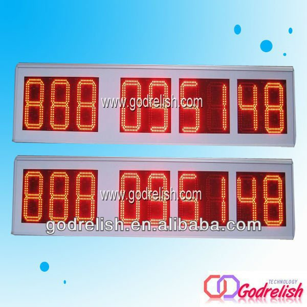 led light bar counter stopwatch timer ice cream display counter