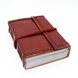 Leather Journal Wraparound Notebook eco Friendly Notebooks Planner Organizer