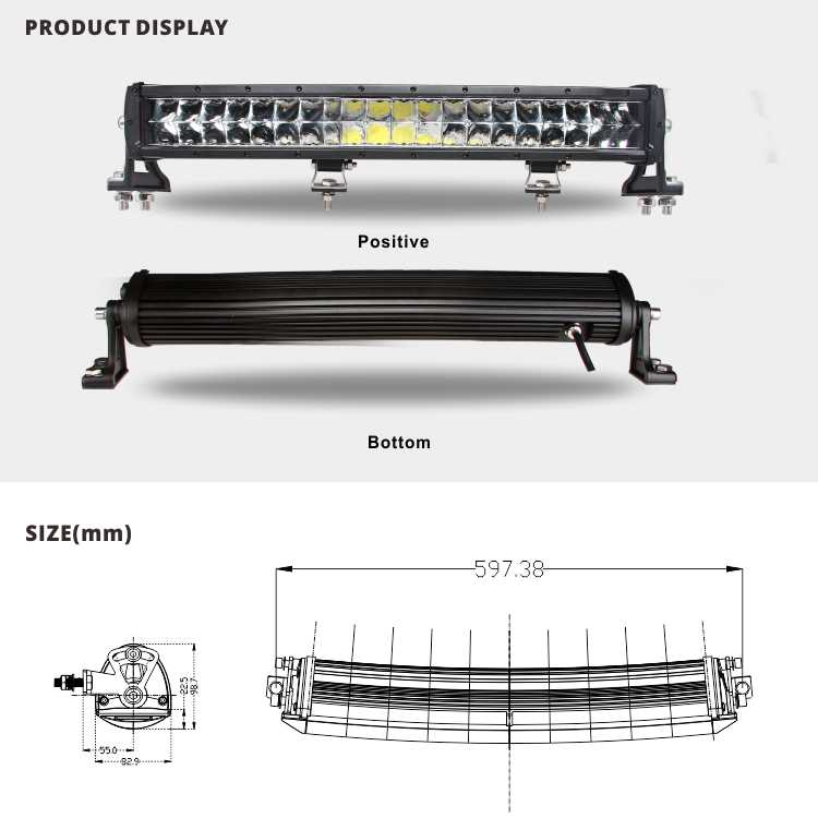 tuffPlus New  Curved 120W 22inch  double row side emitting led light bar for offroad atv truck auxiliary light