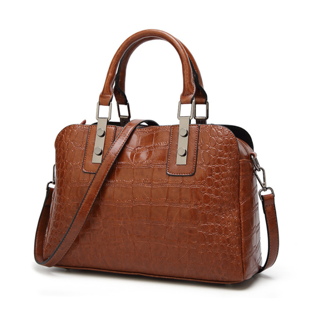 Europe new popular fashion designed crocodile lines PU leather woman <strong>handbag</strong>