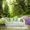 Nature wallpaper forest designs wall paper 3d mural for home decoration