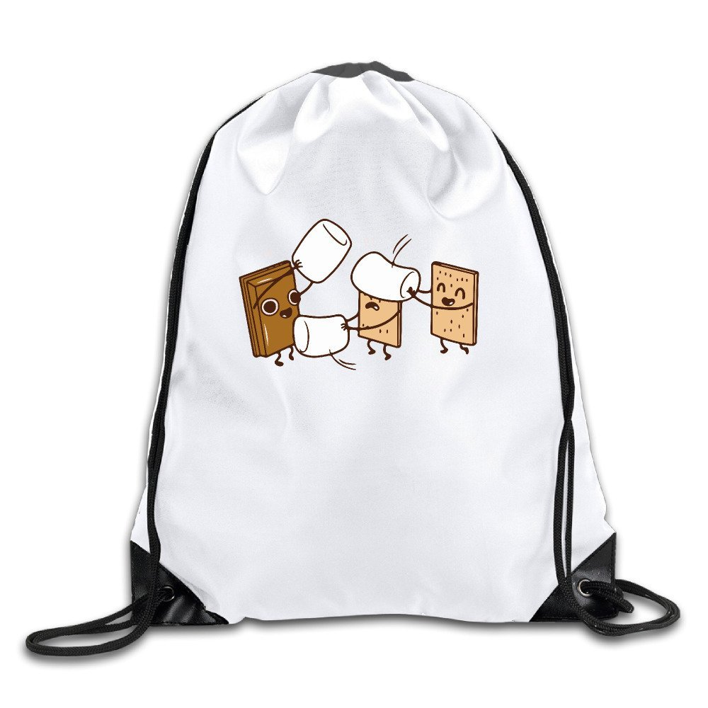 How Smores Are Made Animated Cookies Cute Sport Drawstring Backpack Gym Bag