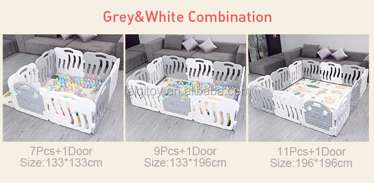 Kids baby indoor white plastic fence,baby playyard factory