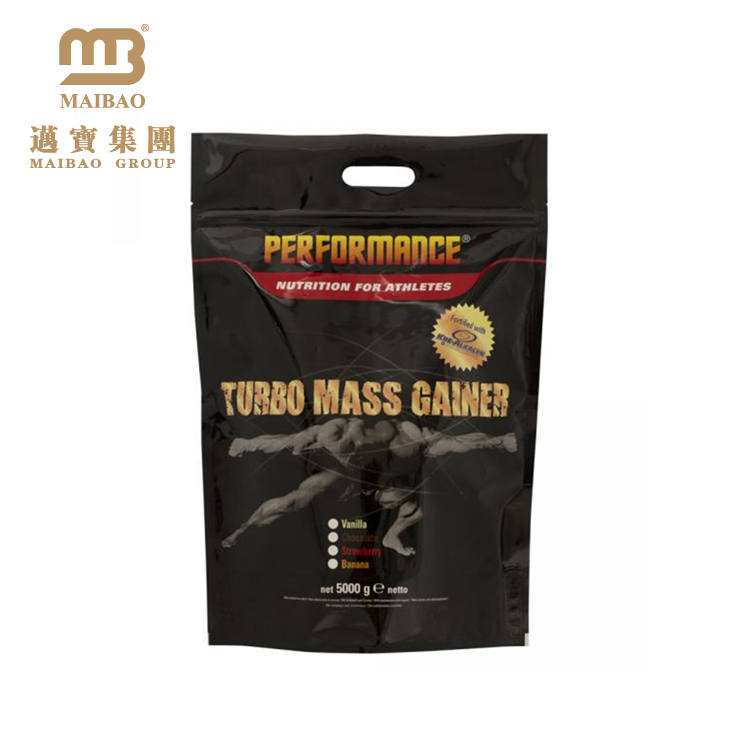 Food Grade OEM Printing Bodybuilding Supplements Whey Protein Packaging Custom Standup Pouch with Zipper