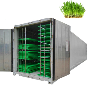 1500KG per day automatic animal fodder sprout container / hydroponic barley growing system with green trays