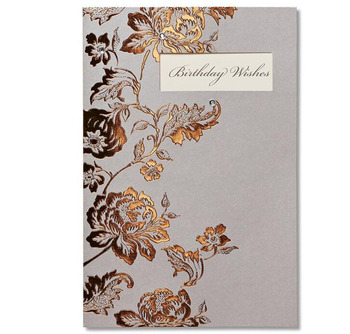 Elegant Golden Flower Die Cutted Paper Handmade Birthday Cards Business Invitation Cards Greeting Cards With Acrylic Stone Buy Happy Birthday