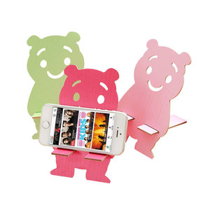 Universal Desktop Lazy Funny Animals Wooden Mobile Phone Table Stand Holder