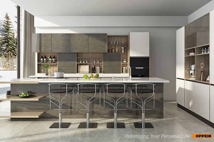 Oppein Factory Direct Sale Modern Laminate Sheet Kitchen ...