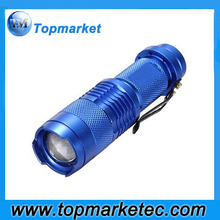 sk68 aluminium dimmable rechargeable led mini flashlight torch