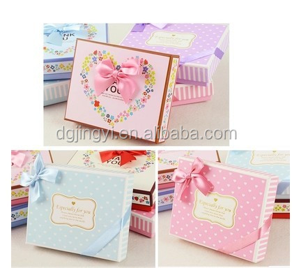 Lovely custom bow tie paper gift packaging boxes wholesale in dongguan