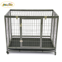 Newest Pet Heavy Duty Large Folding Wire Pet Cage For Dog Cat House Metal Dog Crate