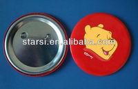 Colorful round pins and buttons badge