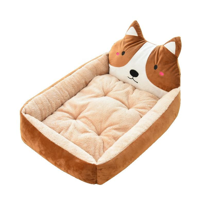 لينة المخملية أكيتا الكلب ثلاثية الأبعاد القط لطيف الحيوانات الأليفة السرير