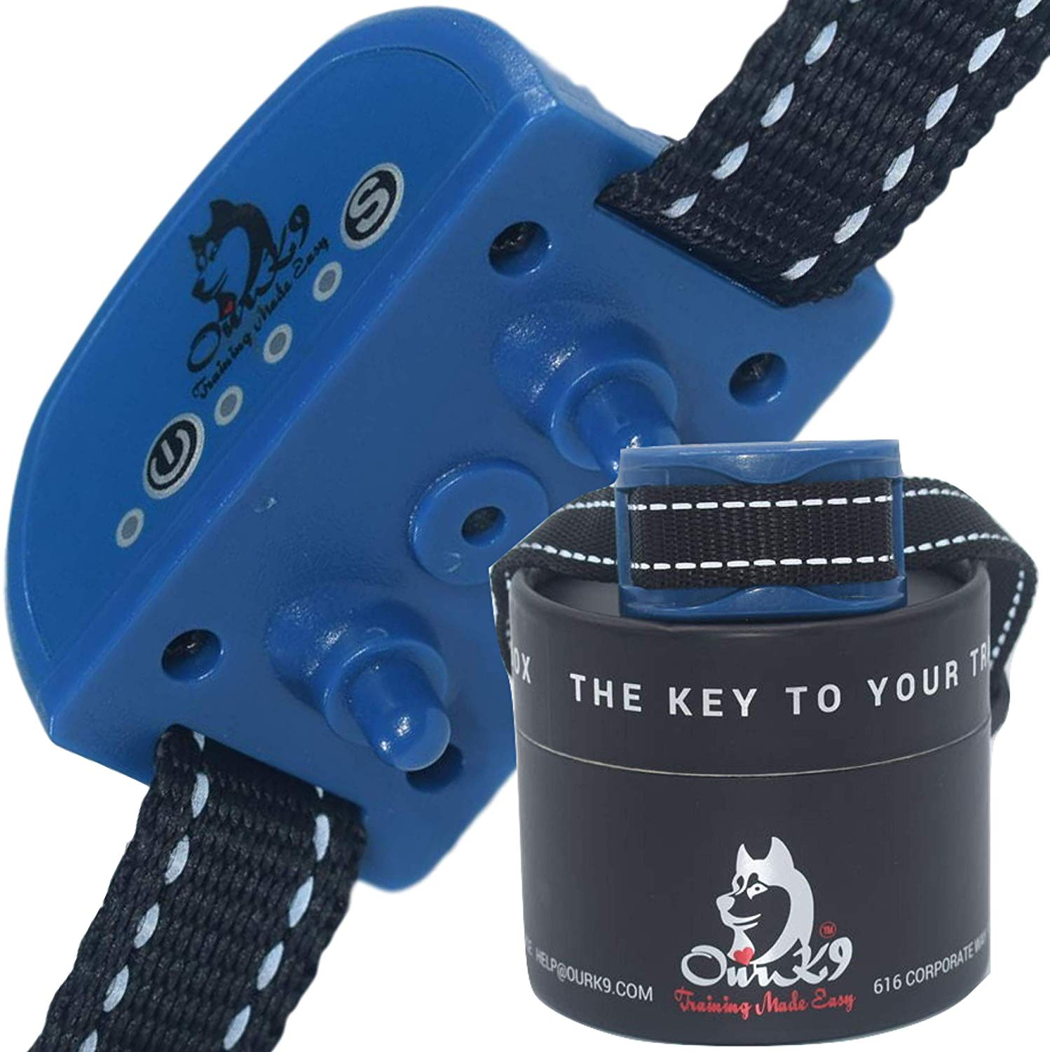 Our K9 Training Made Easy Small Dog Bark Collar | Vibration Collar | Rechargeable Bark Collar | Humane Bark Collar | Puppy Bark Collar | Bark Collar for Small Dog | Anti Barking Collar | No Shock