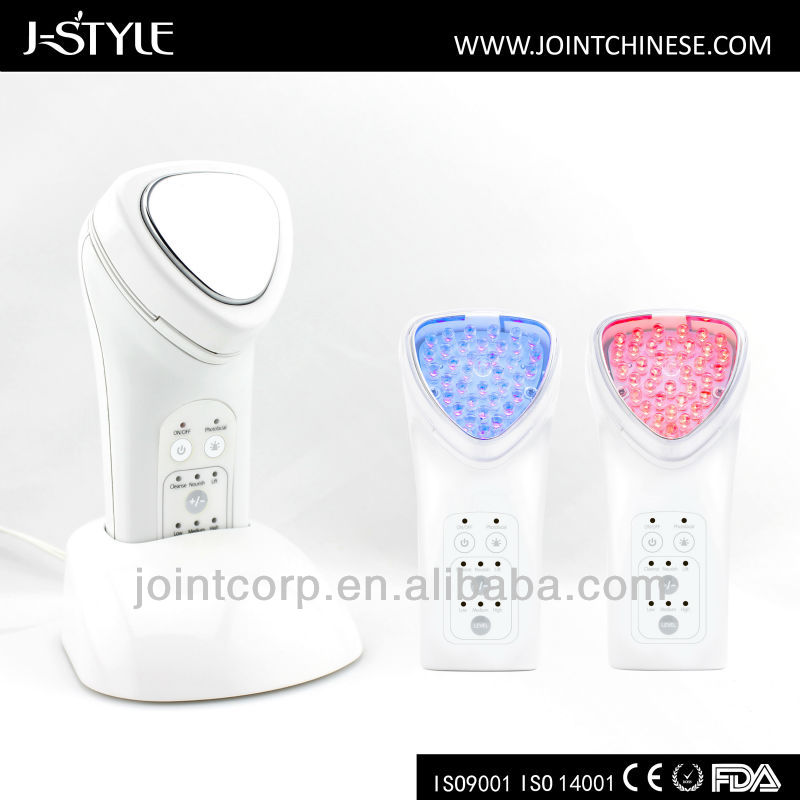 New Portable Beauty Massager Home Use Galvanic Photon Microcurrent Therapy