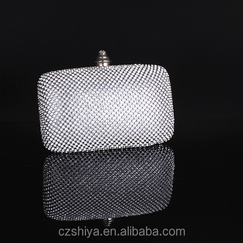 Wholesale price designer crystal and rhinestone cosmetic evening bag