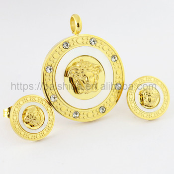 lion shaped animal shaped steel gold plated jewelry for kids