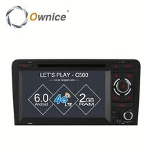 Ownice C500 8 Core Android 6.0 2G ram 32G ROM for Audi S3 A3 Car DVD GPS 2003-2011 Support OBD BAD TPMS 4G