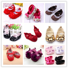 Lovely Toddler Baby Girl Soft Sole Flower Prewalker Crib Shoes NEW SM67