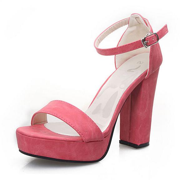 670f389f6dfa Get Quotations · New 2015 Casual Women Sandals Princess Shoes Ladies Pumps  Square High Heels Platform Open Toe Shoes