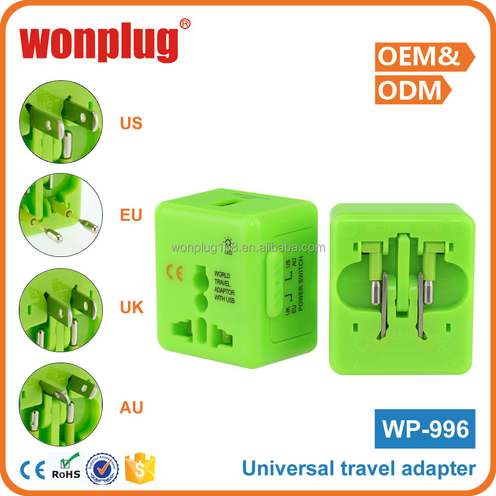 All in One 1 Year Guarantee Free Sample universal travel adapter usb