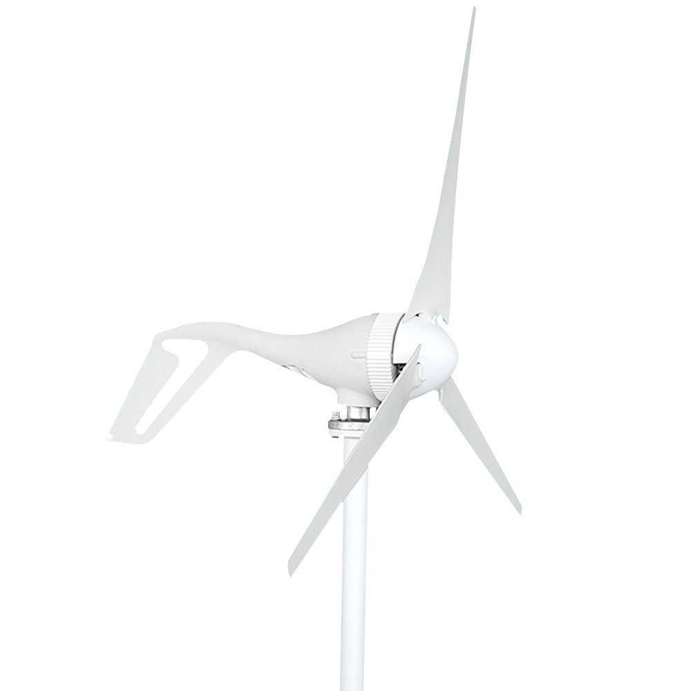HUKOER Wind Turbine DC 12V/24V Wind Turbine Generator 100W/200W/300W Wind Turbine Kit Power supplementation (300W-12V)