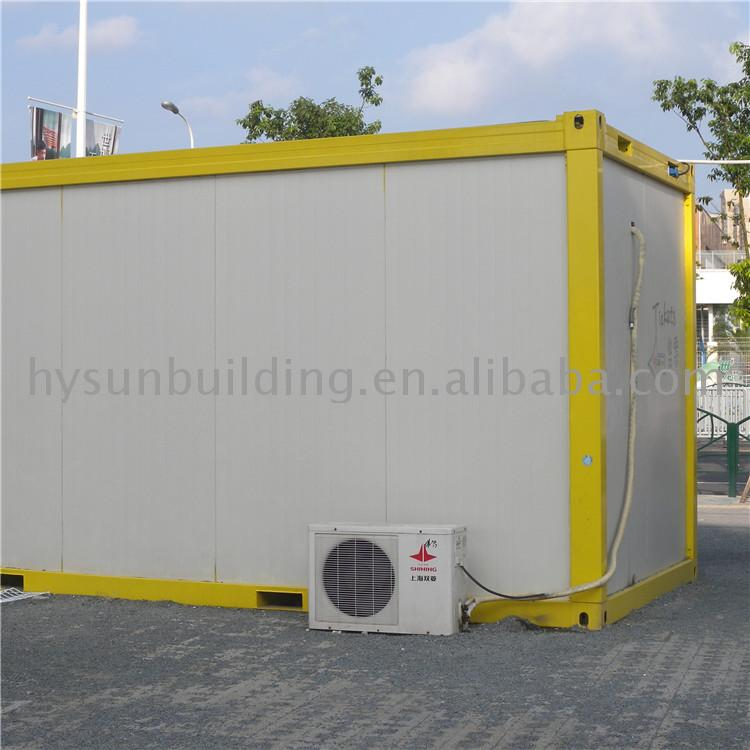 Mobile flat pack customized 20ft container house box guard