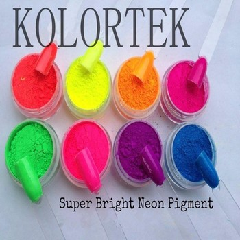 Super Bright Neon Pigment Powder For Mixing Gel Nails - Buy Bright ...