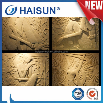Sandstone Handcarved Animal Flower Relief Sculpture 3D Wall Decor