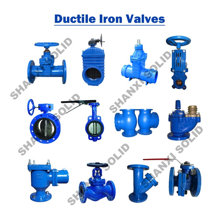 Ductile Iron Screwed Ends Resilient Gate Valve, Straight F/F