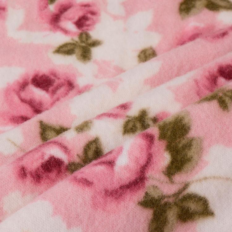 China supplier custom made comfortable super soft quilted polyester printed fabric