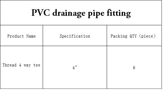 Upvc Drainage Pipe Cross 4 Way Tee Pvc Fitting - Buy 4 Way