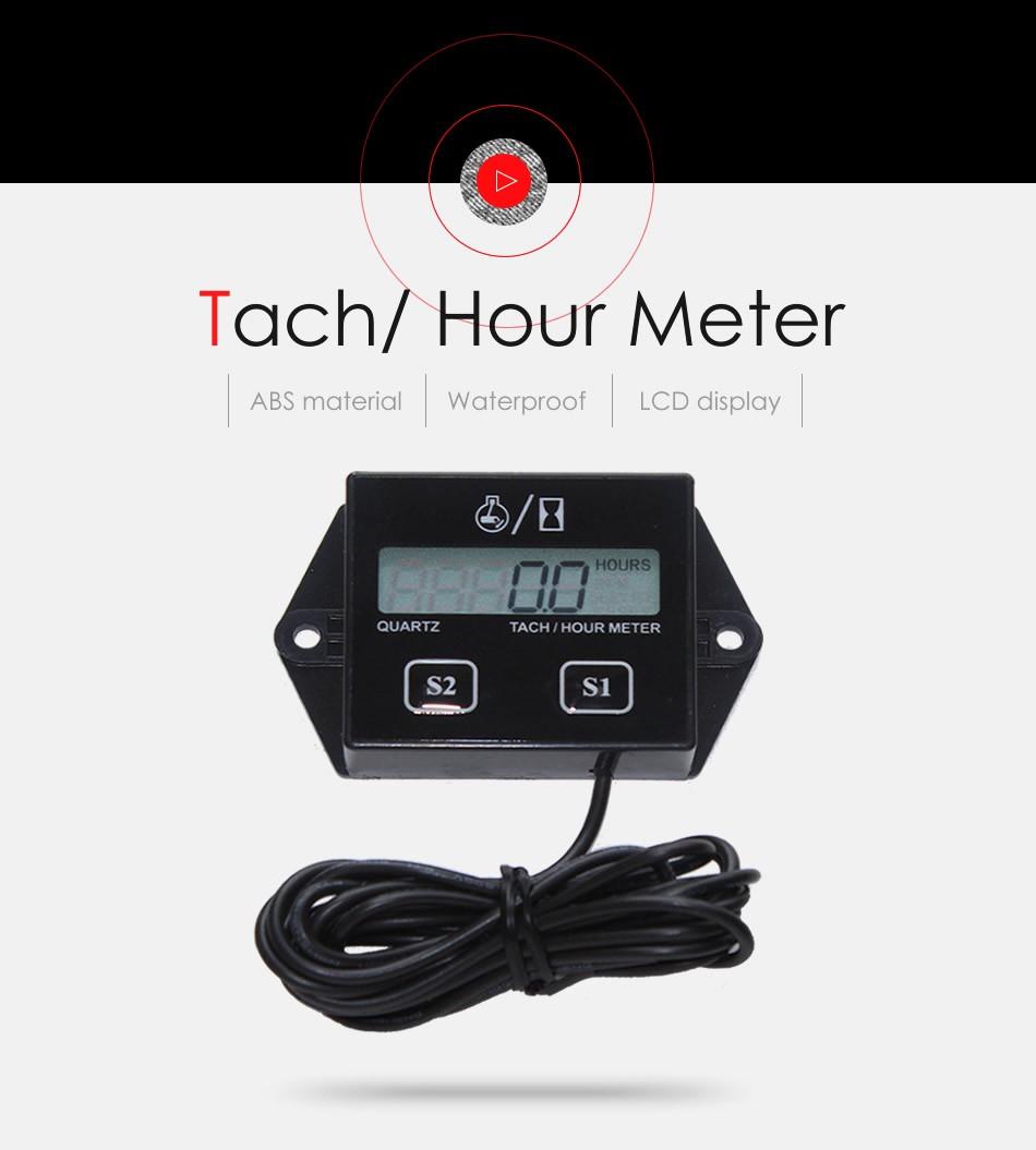 Superu Replaceable Batteary Digital Waterproof Tiny Tach Hour Meter  Tachometer Maintenance Timer - Buy Maintenance Timer,Maintenance  Gauge,Maintenance