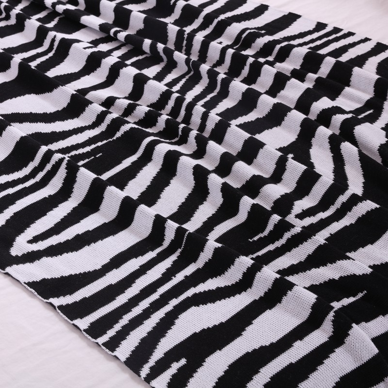 Zebra Afghan Knitting Pattern : Zebra Knitted Pattern Children Throw Blanket,Mink Blanket ...