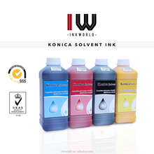 Inkworld 100% original Inkjet printer eco solvent ink for Konica 14pl /Spectra Polaris / Xaar 128 382 head