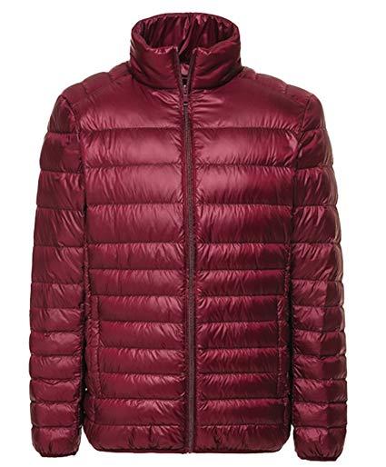 HOT! Autumn Winter Man Duck Down Jacket Ultra Light Thin Plus Size Spring Jackets Men Stand Collar Men's Down Jacket фото