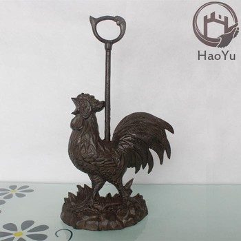 Decorative Rooster Cast Iron Door Stop For Home Decor