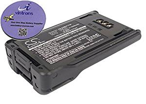 vintrons (TM) Bundle - 2500mAh Replacement Battery For KENWOOD KNB-47L, KNB-48L, + vintrons Coaster