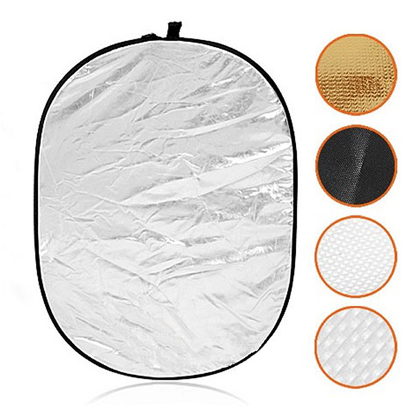 90*120CM 5 in 1 Portable Studio Photo Collapsible Multi-Disc Light Photographic Light Reflector with Carrying Bag