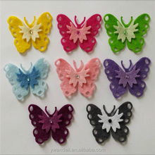 Layered Butterflies, Felt Butterfly Ornament Felt Fabric Butterflies
