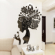 3d acrylic mirror wall sticker decoration dining room wall decor stickers mirrors