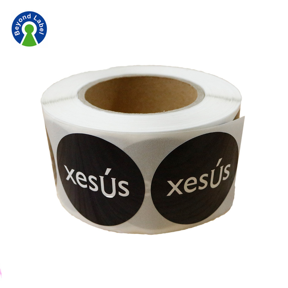 Round Logo Adhesive Custom Personalised Stickers Label sticker printing