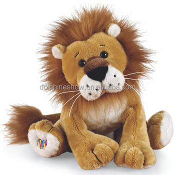 Lion Plush Toy Real Fur Stuffed Cute Cheap Soft Toy Sitting Large